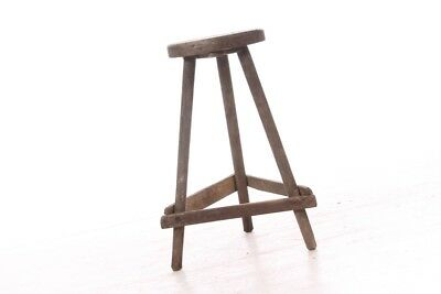 Beautiful Age Workshop Chair Wooden Stool Workshop STOOLS CHAIR OLD Vintage