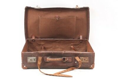 Very Old Suitcase Leather Travel Cases Vintage Design Retro Cult