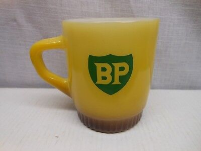 Vintage BP Fire king Anchor Hocking British Pertolium Coffee Mug Gas Oil Nice