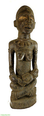 Yombe Figure Sitting Maternity 35 Inch African Art