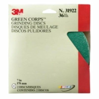 """3M Production 31922 Job Packed Abrasives Green Corps Grinding Disc - 7"""" X 0.87"""""""