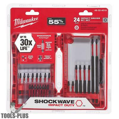 Milwaukee 48-32-4019 24PC Shockwave Impact Set New