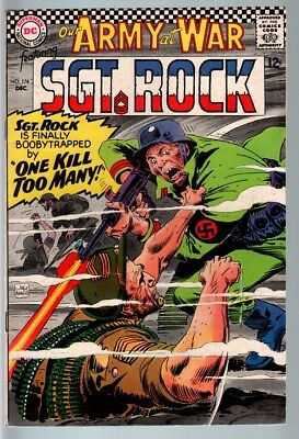 Our Army At War #174 1966-Dc War Comic-Sgt. Rock-Fn Fn