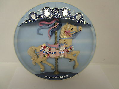 Original Classic Cool Rhodes Studios Musical Carousel Horse Vintage Collectable