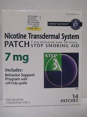 HABITROL TAKE CONTROL NICOTINE PATCH STEP 3 7mg EXP: 7/18+  RC 6258