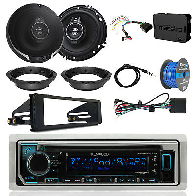 "KMRD372BT CD Radio w/ Accessories, 2x 6.5"" Speakers, Adapters, Antenna, Wire"