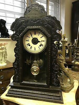 Victorian Gingerbread American Clock. Chimes. Working Order. Offers?