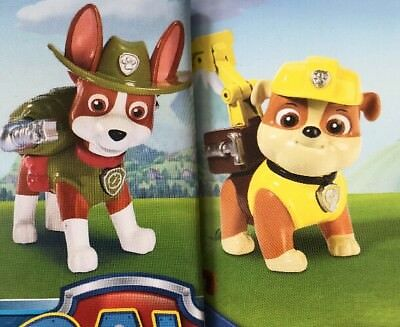 NEW NICK Jr. Paw Patrol Action Pack Pup & Badge Tracker And Rubble 2 ...
