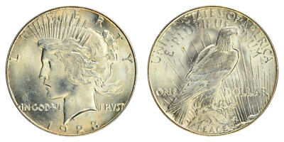 1923-S Peace Dollar Brilliant Uncirculated - BU