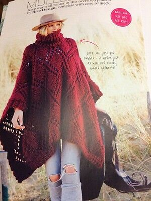 King Cole 4841 Knitting Pattern Childs Adult Poncho Snood In