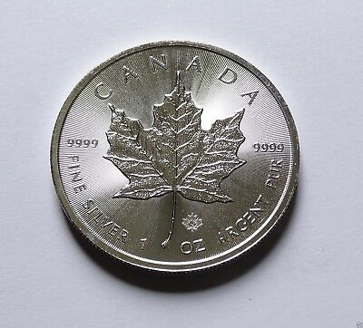 2014 CANADA MAPLE LEAF PRIVY MARK $5 FIVE DOLLAR SOLID .9999 SILVER 1oz COIN