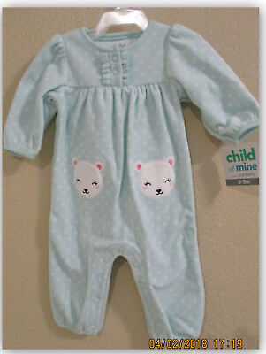 Child of Mine by Carter's 0-3M Baby Girl Longsleeve One Piece Outfit
