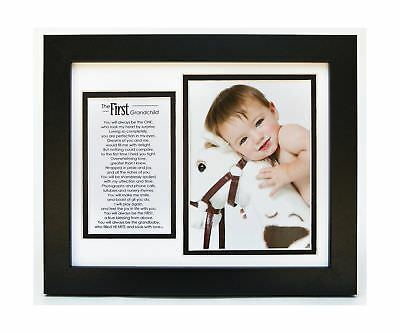 The Grandparent Gift Co. First Grandchild Photo Frame With Poem 2DAY DELIVERY