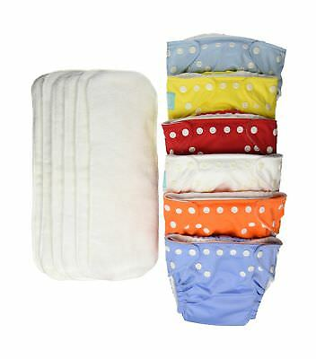 Charlie Banana 6 Reusable Diapers + 12 Inserts Set, Unisex, Med... 2DAY DELIVERY