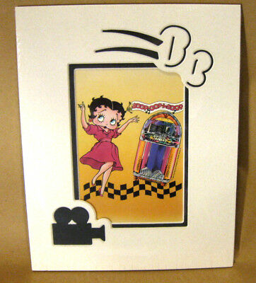 BETTY BOOP WURLITZER 1100 ART Matted Die-Cut Print BB with Jukebox Picture Decor