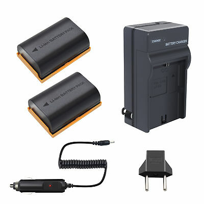 2 Pack LP-E6 Battery + Charger for Canon EOS 7D 5D Mark IV III II 6D 60D 70D 80D