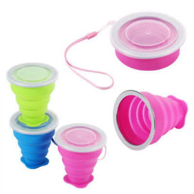 Portable Silicone Telescopic Drinking Collapsible Folding Cup Camping Outdoor