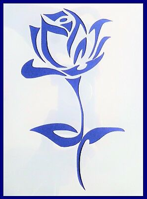 Flexible Stencil *ROSE* Flower Small Medium or Large Card Making Crafts Painting
