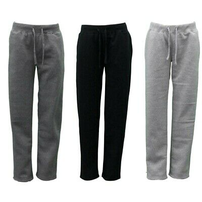 Women's Ladies Wide Leg Track Pants Fleece Lined Sweatpants Jogger Trackies
