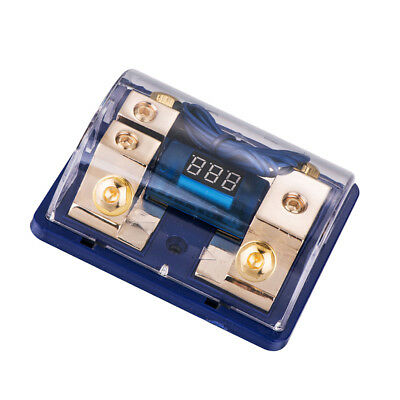 Universal Car Fuse Block Distribution Block With Number Display LED Light