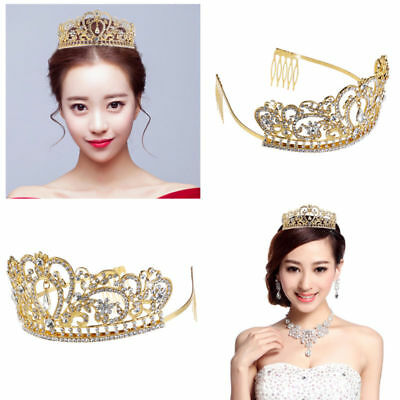 Wedding Bridal Crown Crystal Rhinestone Princess Pageant Princess Jewelry Tiara