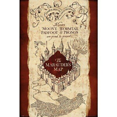 Harry Potter -The Marauder's Map Movie Poster-Laminated available-90cm x 60cm