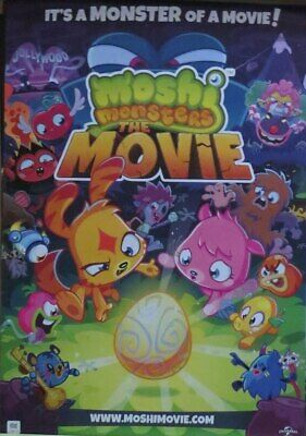 MOSHI MONSTERS-The Movie- Poster-Laminated available-90cm x 60cm-Brand New