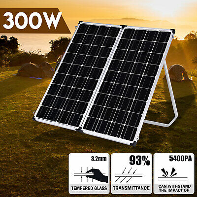 12V Folding Solar Panel 300W Monocrystalline Caravan Camping Battery Charge USB
