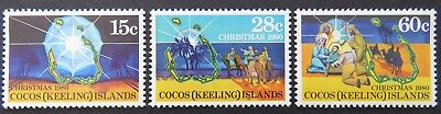1980 Cocos Keeling Island Stamps - Christmas - Set of 3 MNH