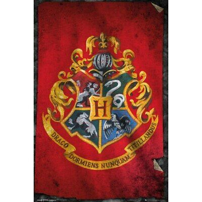 Harry Potter -Hogwarts Flag Movie Poster-Laminated available-90cm x 60cm