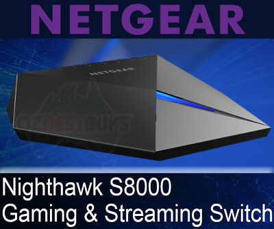 Netgear Nighthawk S8000 Advanced 8 Port Gigabit Ethernet Gaming Switch GS808E