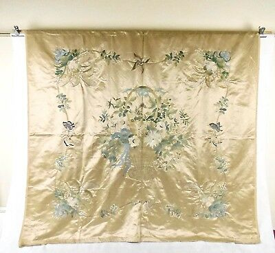 Large Chinese Qing Dynasty Suzhou Silk Embroidery Panel