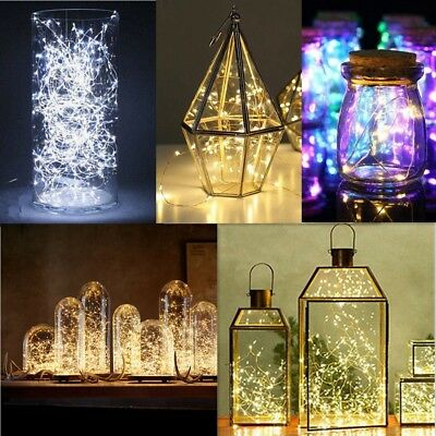 2-10M Battery Powered Copper Wire String Fairy Xmas Party Lights Warm White EW