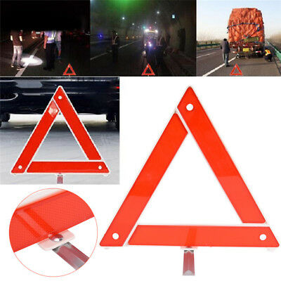 Reflective Warning Sign Foldable Triangle Car Hazard Breakdown EU Emergency HC