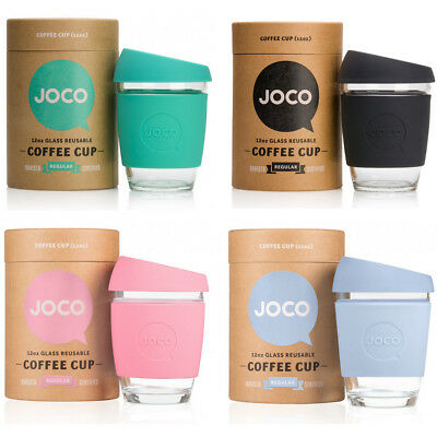NEW JOCO Glass Reusable Coffee Cup Tea Cold Drink Eco Friendly Thermal Barista
