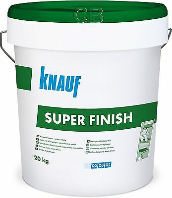 Knauf Super Finish 20kg Spachtelmasse Fertigspachtel Fugenspachtel SHEETROCK