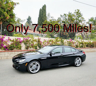 "2016 BMW 6-Series 650i Gran Coupe 2016 650i Twin-Turbo V8 Gran Coupe ///M Package 7,800 Miles 20"" Wheels M"