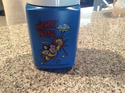 """""""Mighty Mouse"""" Thermos from Lunch box. NO LUNCH Box ONLY THERMOS. vintage 1979"""