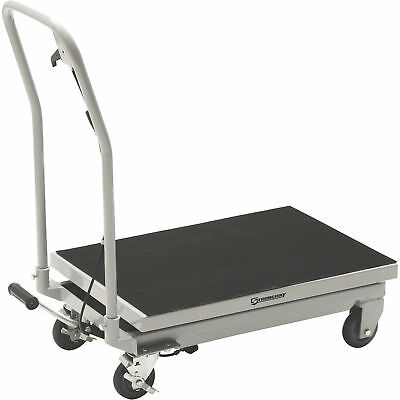 Strongway 2-Speed Hydraulic Table Cart with Rapid Lift- 500-Lb. Capacity