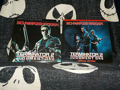 Terminator 2 Theatrical &Special Edition Versions Widescn Laserdisc Free  Ship$30