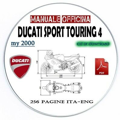 Manuale Officina Ducati ST4 Sport Touring 4 Workshop Manual Service My 2000