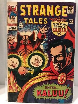 Marvel 1966 Strange Tales #148 Origin Of The Ancient One VG- Silver Book