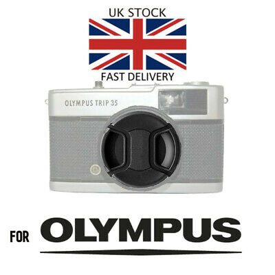 Olympus Trip 35 Lens Cap with Cord & Flash Shoe Cover- Brand New - Fast UK post