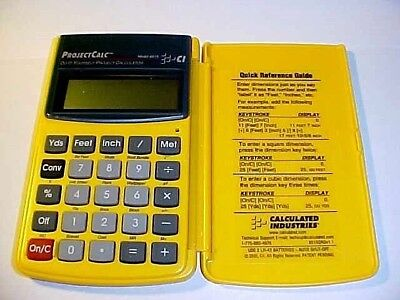 Vintage 2000 Calculated Industries No 8515 Project Calc Calculator VG Working