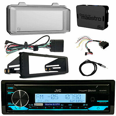 Kenwood Bluetooth Radio, Harley Wiring Kit, Weathershield, Dash Kit, Antenna