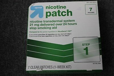 UP & UP Nicotine Patch Transdermal System 7 Patches 21mg 1 Week Step 1 Exp 03/17