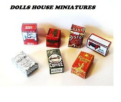 Victorian  Style    Grocery Boxes  Dollshouse Miniatures