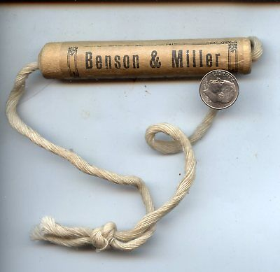 Antique Package Handle, Benson & Miller Dry Goods, Bangor, ME, Unadilla NY