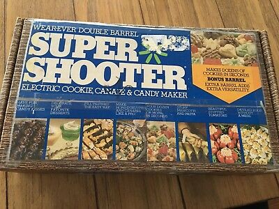 Vintage Great Condition In Box Wear-ever Double Barrel Super Shooter