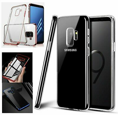 For Samsung Galaxy S8 S9 Plus Note 8 9 Thin Rubber Crystal Clear Soft Phone Case
